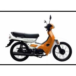 MOTO MONDIAL QJ110E0KM COMBO BLANC-ORANGE