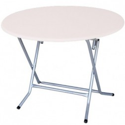 TABLE RONDE PLIANTE PVC 100CM